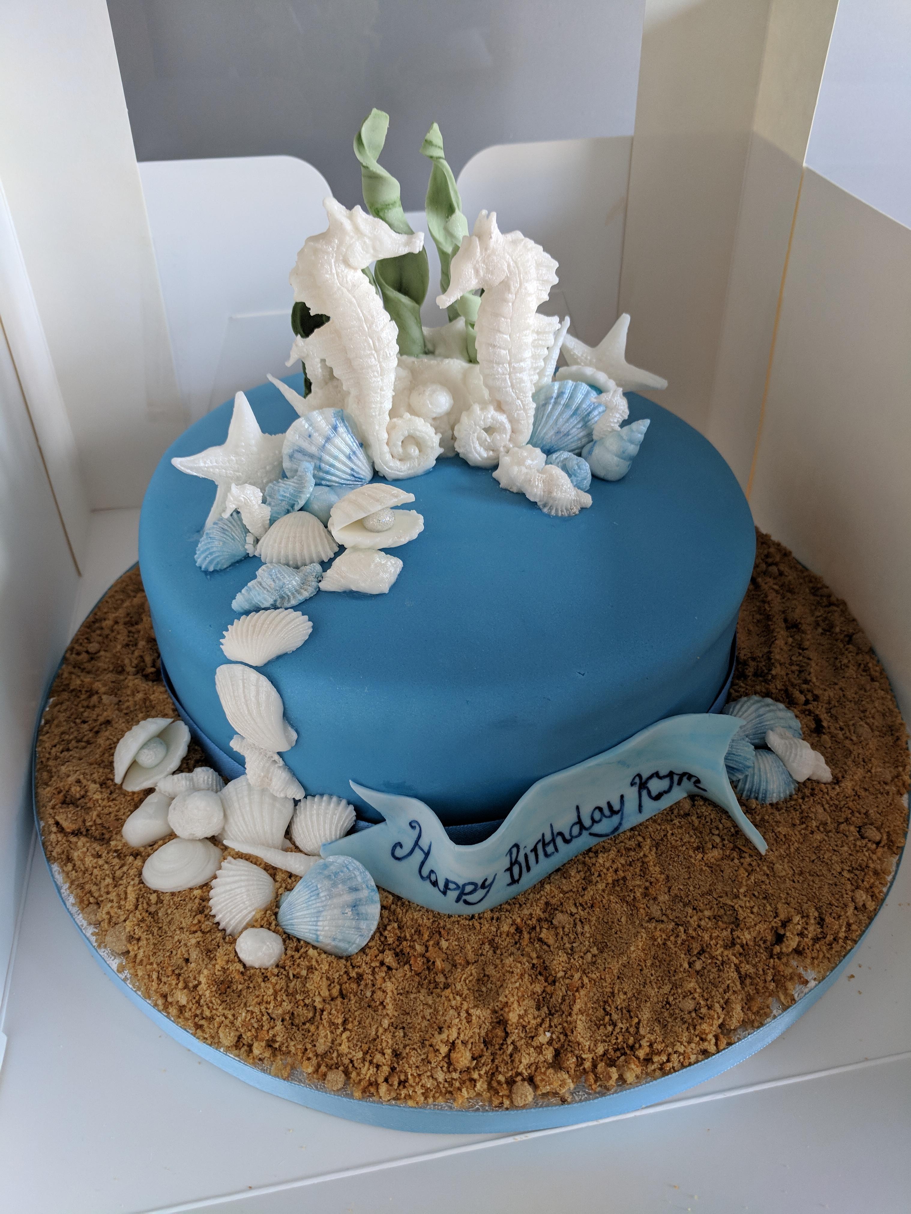 Seahorse Themed Birthday Cake Gem S Cakes