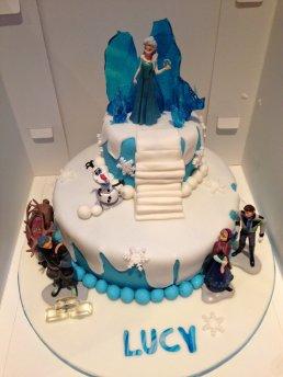 Astounding Frozen Birthday Cake Gems Cakes Birthday Cards Printable Benkemecafe Filternl