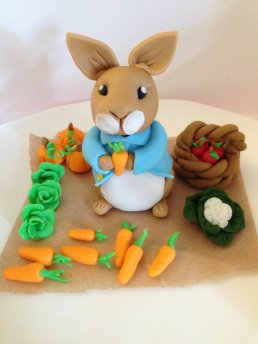 Admirable Peter Rabbit Birthday Cake With A Vanilla Sponge Vanilla Personalised Birthday Cards Epsylily Jamesorg