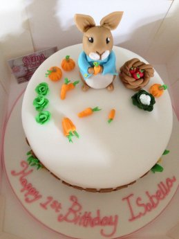 Phenomenal Peter Rabbit Birthday Cake With A Vanilla Sponge Vanilla Personalised Birthday Cards Epsylily Jamesorg
